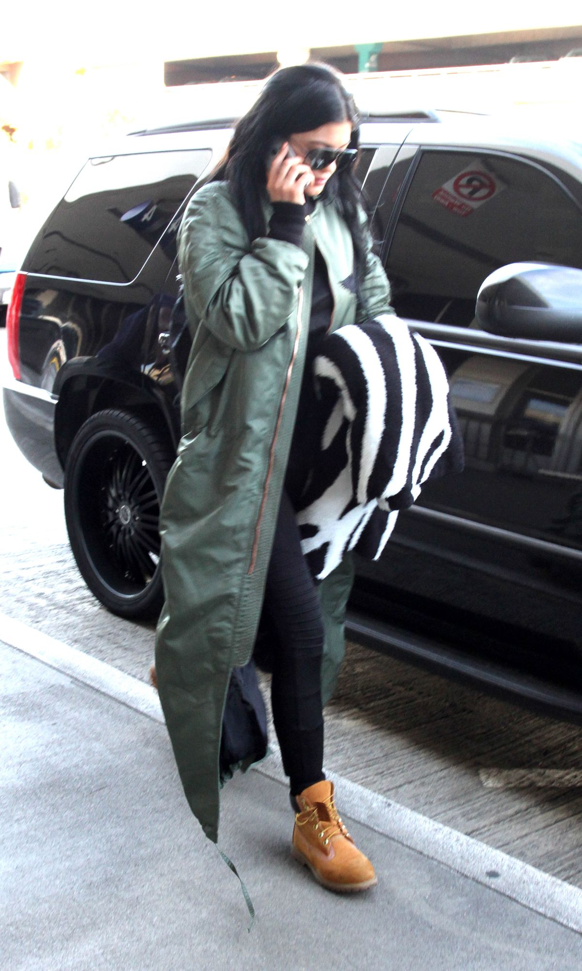 KYLIE JENNER Arrives at Los Angeles International Airport 1102