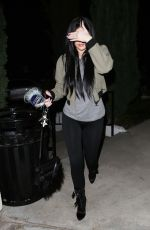 KYLIE JENNER in Tights Arrives at Sugarfish in Los Angeles