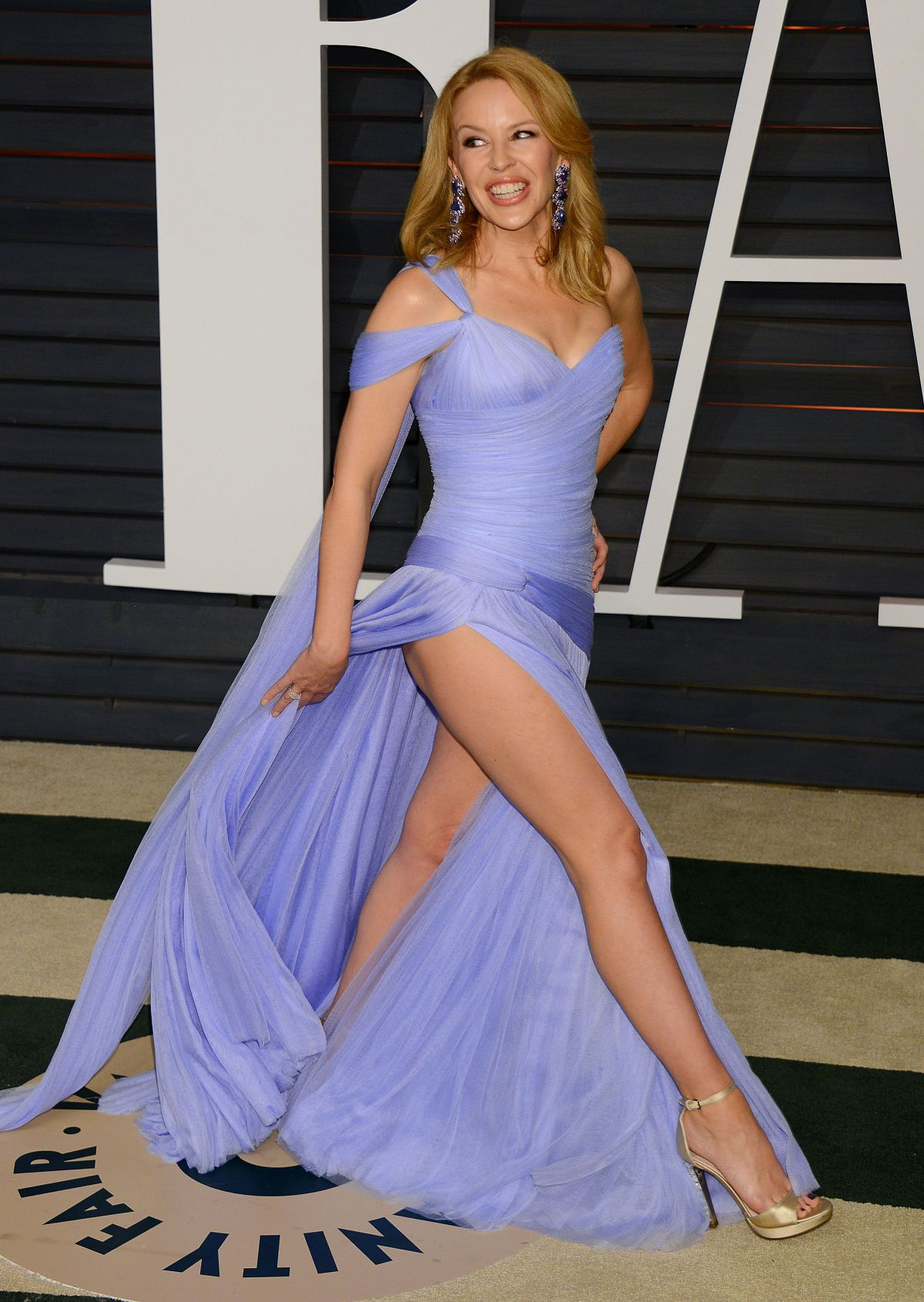KYLIE MINOGUE at Vanity Fair Oscar Party in Hollywood