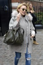 KYLIE MINOGUE Leaving Chiltern Firehouse in London 3001