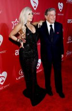 LADY GAGA and Tony Bennett at 2015 Musicares Person of the Year Gala Honoring Bob Dylan