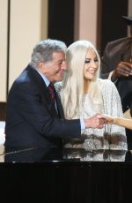 LADY GAGA Stevie Wonder Songs In the Key of Life All-star Grammy Salute in Los Angeles
