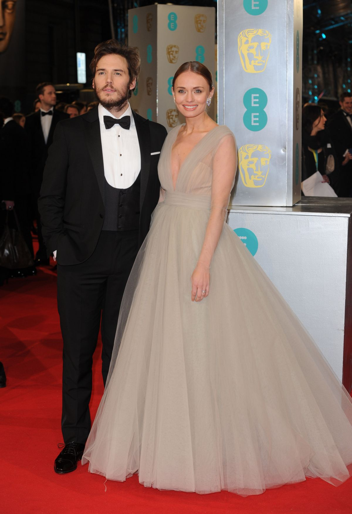 LAURA HADDOCK at 2015 EE British Academy Film Awards in London