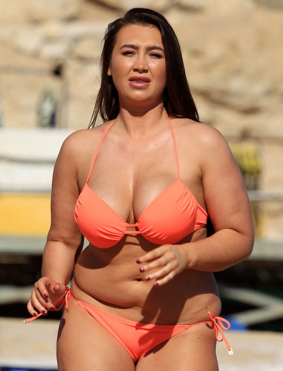LAUREN GOODGER in Bikini on the Beach in Egypt