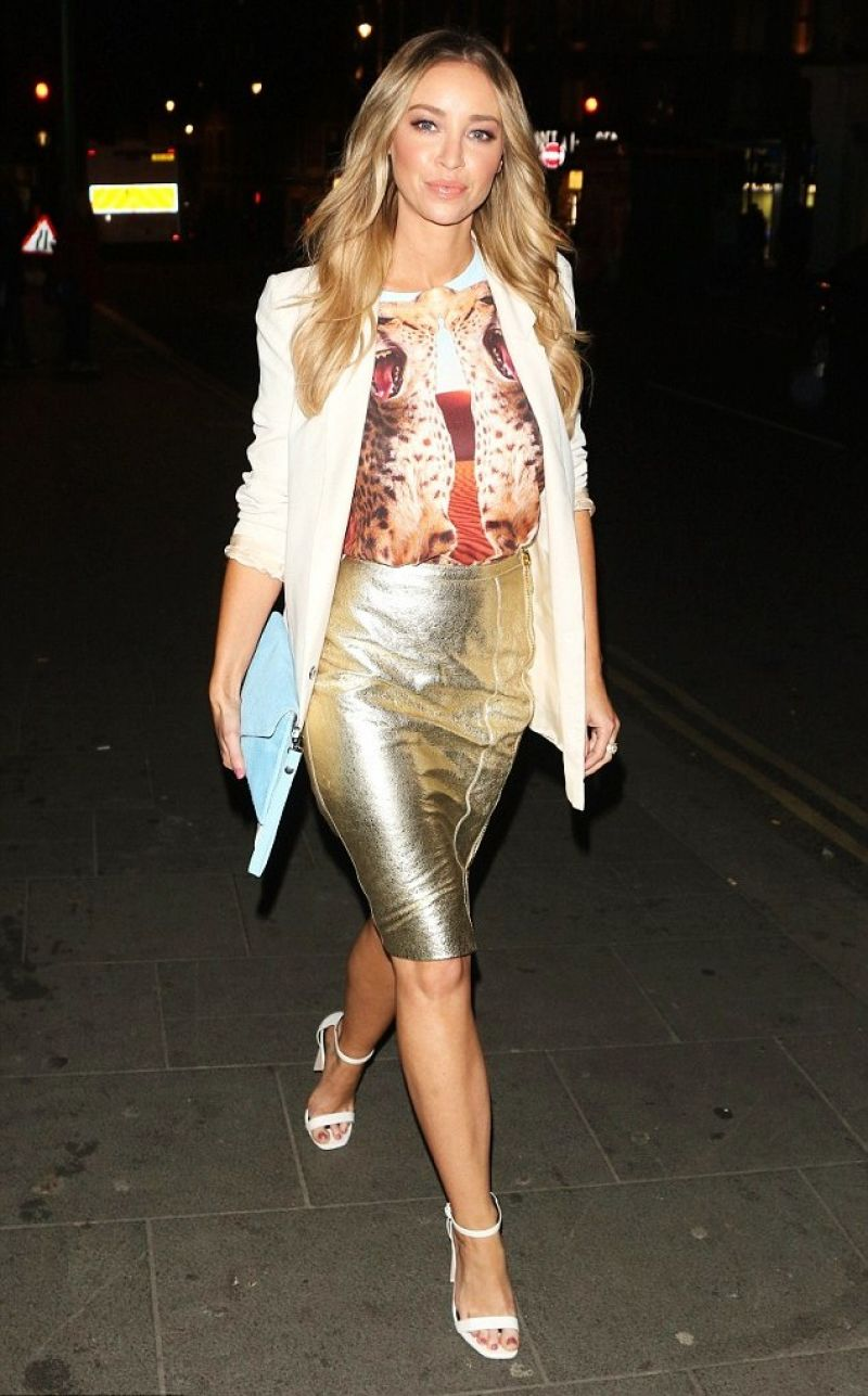LAUREN POPE Arrives at W Hotel in London
