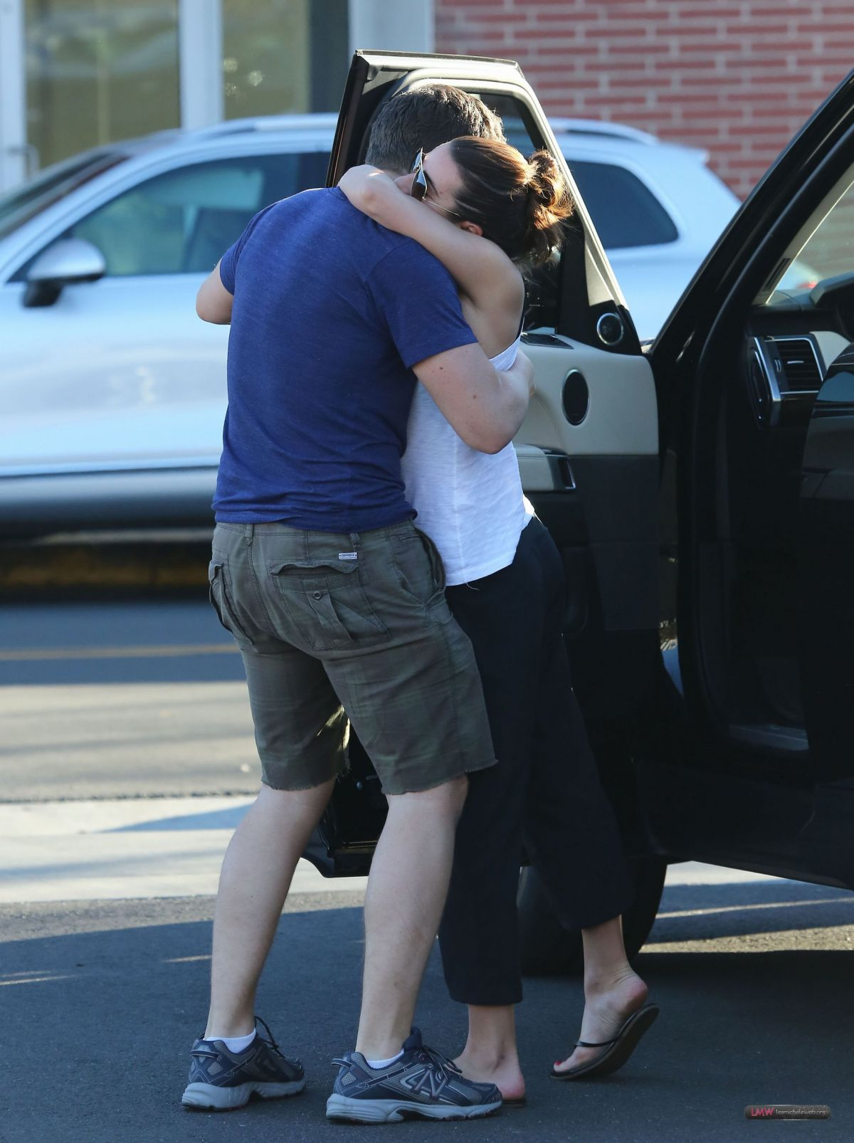 LEA MICHELE and Jonathan Groff Out for Lunch in Los ...