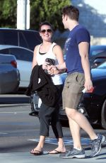LEA MICHELE and Jonathan Groff Out for Lunch in Los Angeles