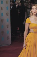 LEA SEYDOUX and MONICA BELLUCCI at 2015 EE British Academy Film Awards in London