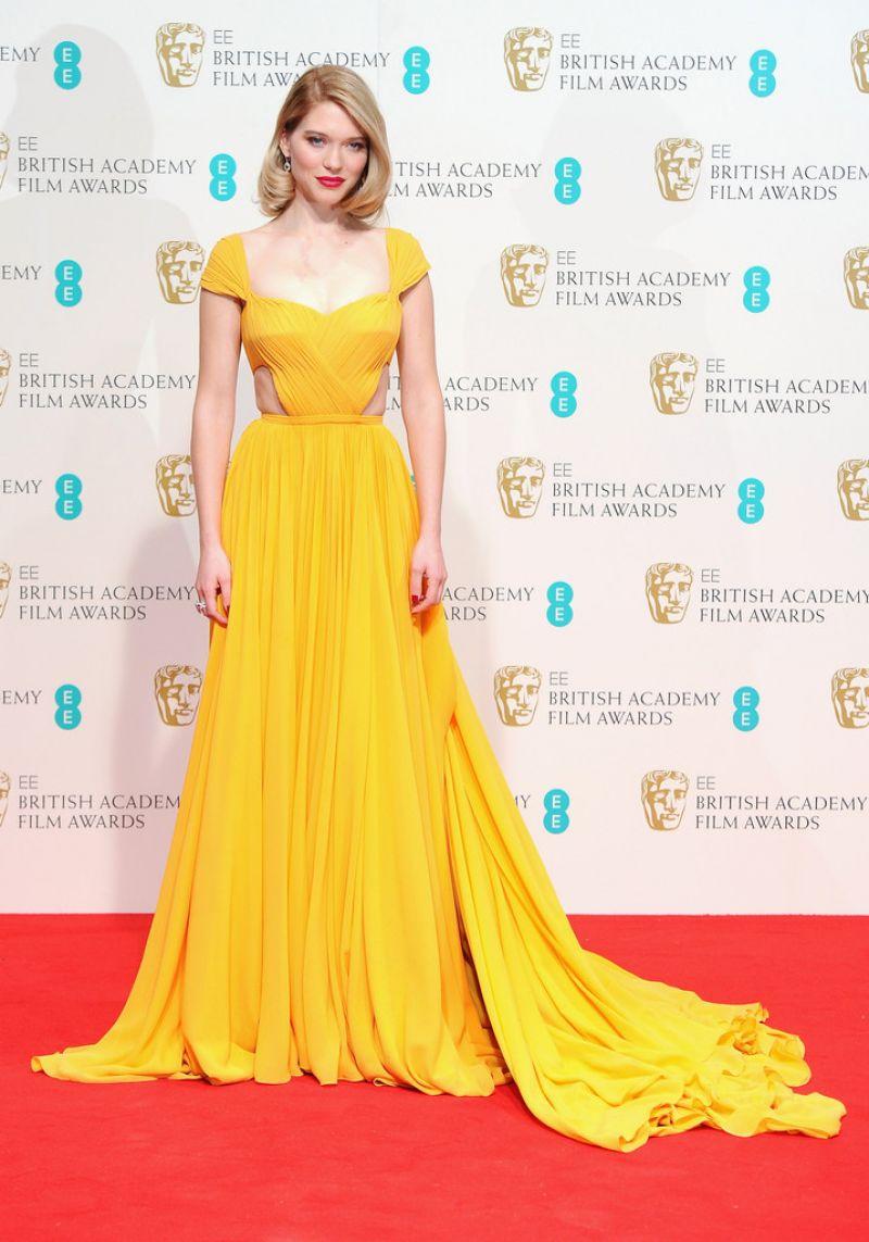 LEA SEYDOUX at 2015 EE British Academy Film Awards in London