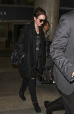 LILY COLLINS at LAX Airport in Los Angeles 1202