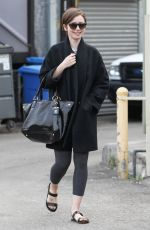 LILY COLLINS in Leggings Out in West Hollywood 2702