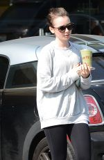 LILY COLLINS Leaves Earthbar in West Hollywood 1602