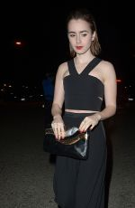 LILY COLLINS Leaves United Talent Agency Party