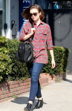 LILY COLLINS Out and About in Beverly Hills 0402