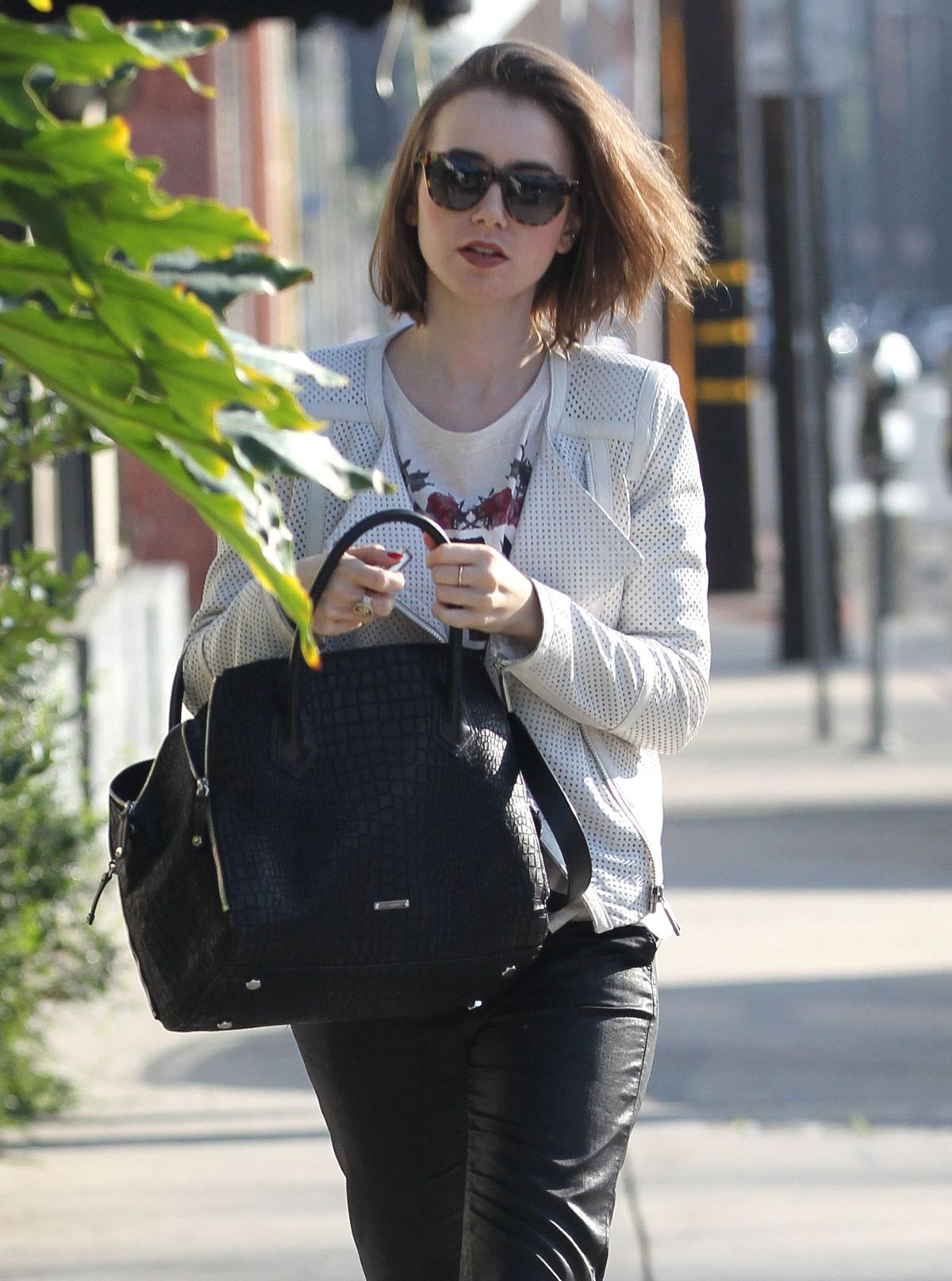 LILY COLLINS Out and About in West Hollywood 1702