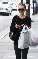 LILY COLLINS Out Shopping in West Hollywood 2002