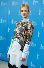 LILY JAMES at Cinderella Photocall in Berlin