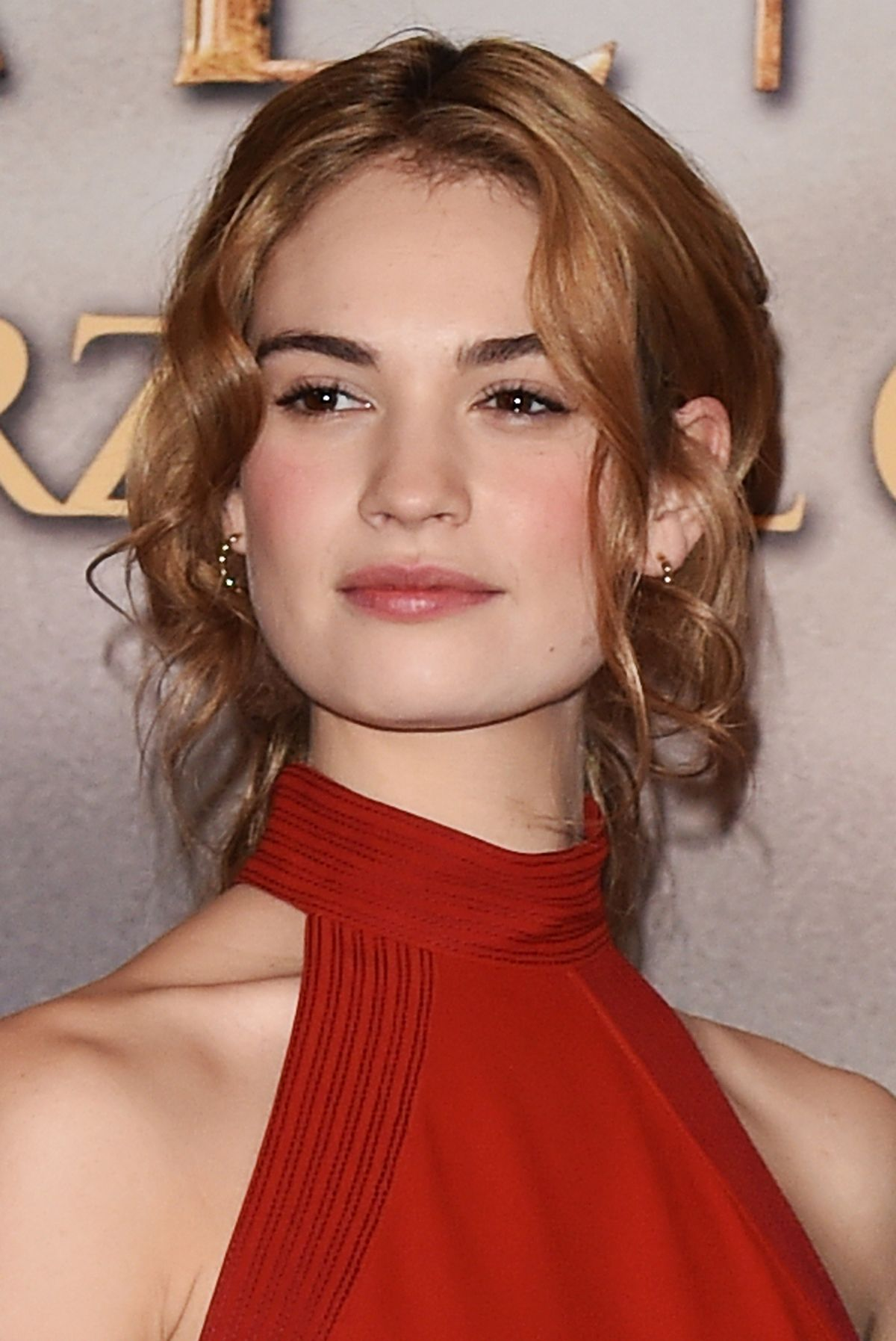 Lily James At Cinderella Photocall In Milan Hawtcelebs