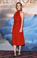 LILY JAMES at Cinderella Photocall in Milan