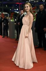 LILY JAMES at Cinderella Premiere in Berlin
