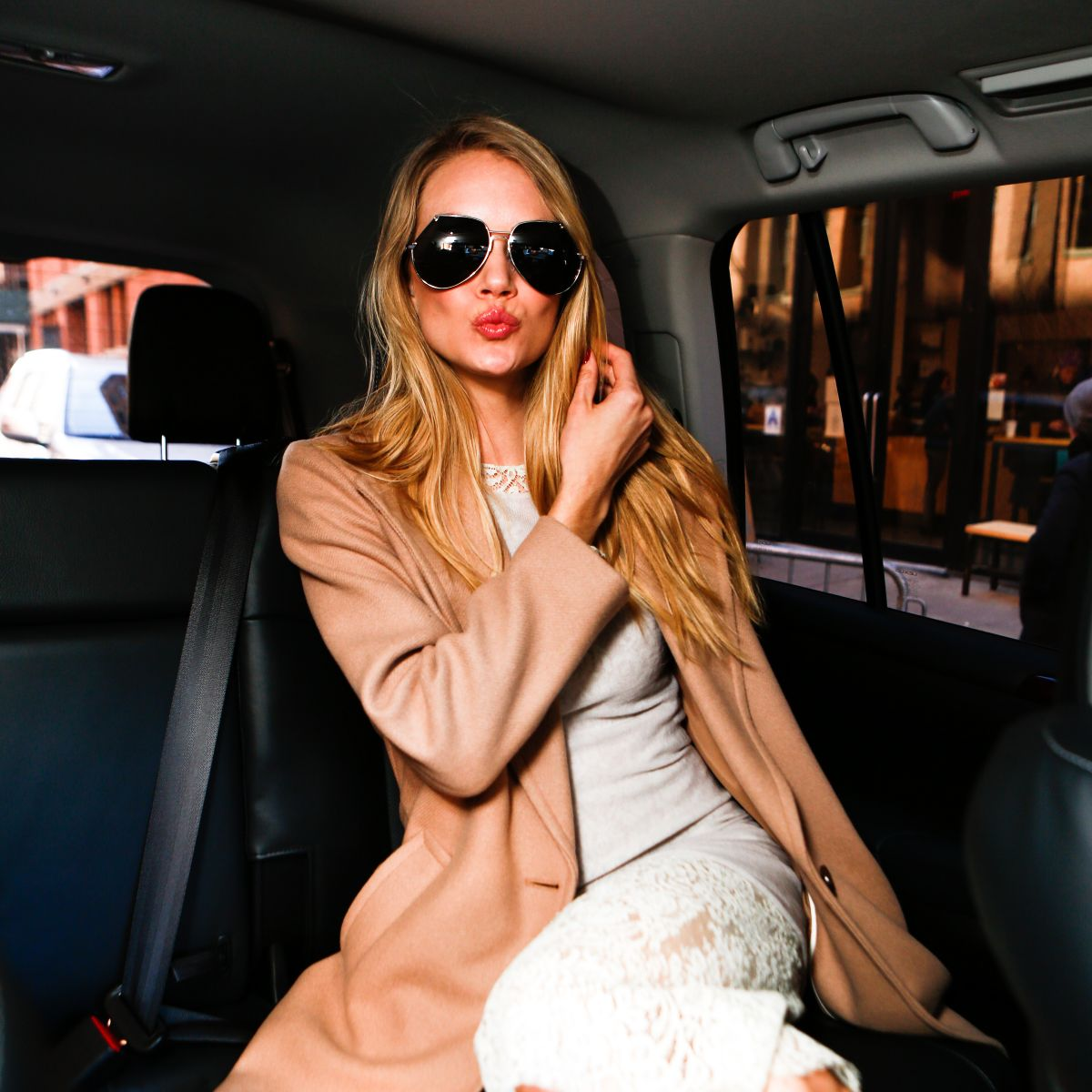 LINDSAY ELINGSON at Made Fashion Week Presents: Lexus Street Style in New York