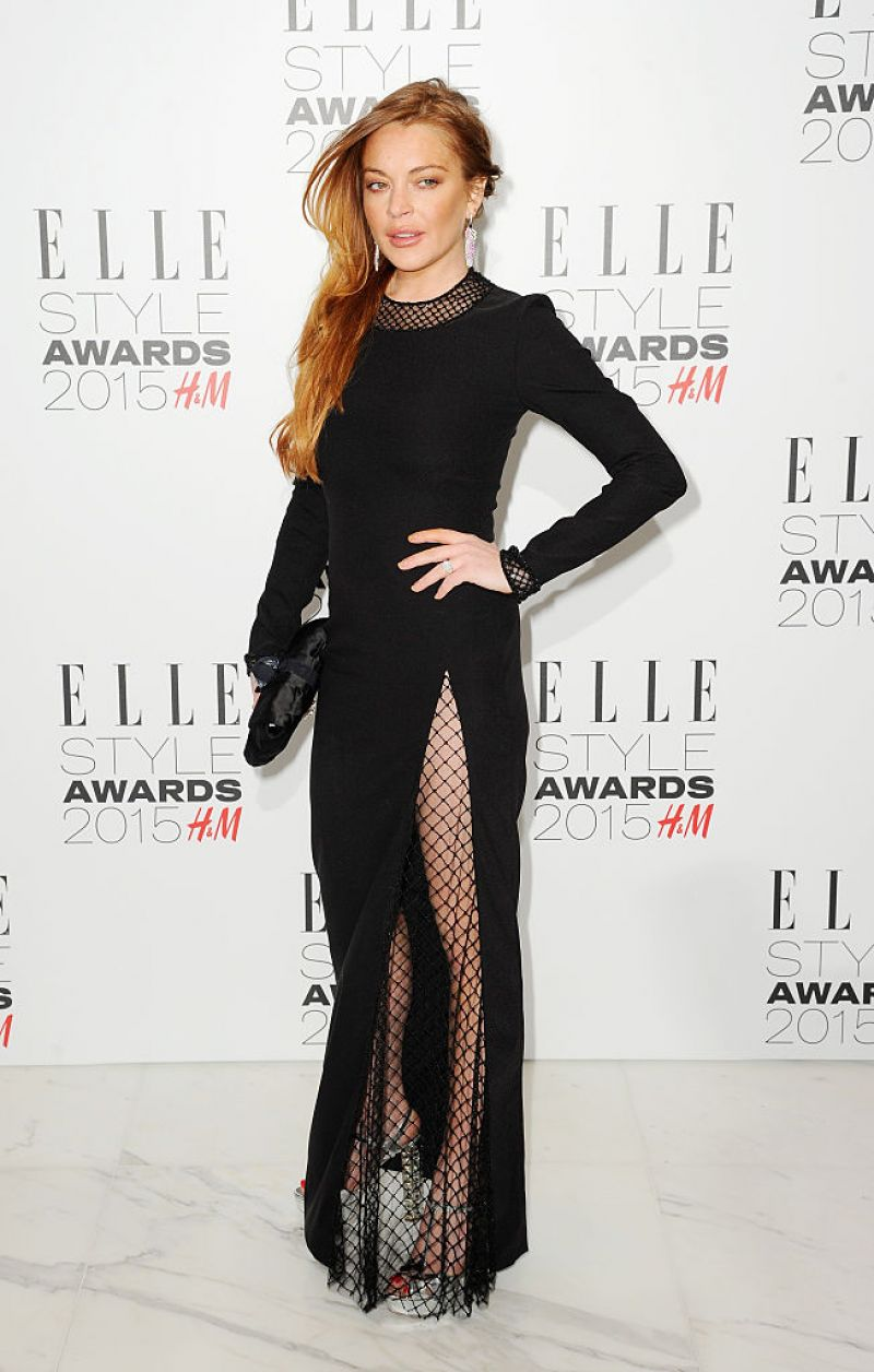 LINDSAY LOHAN at Elle Style Awards in London