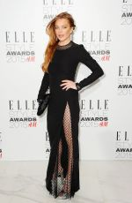LINDSAY LOHAN at Elle Style Awards in London