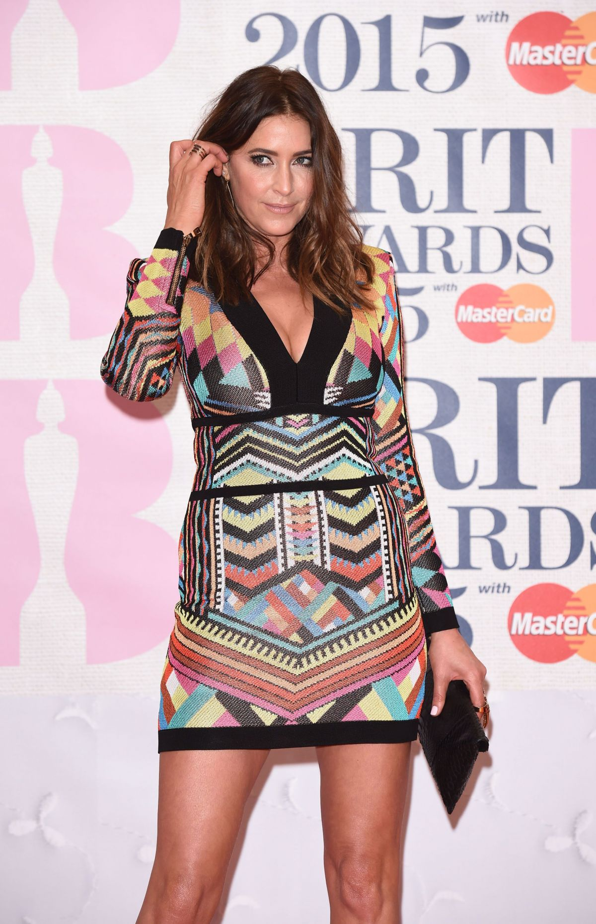 LISA SNOWDON at 2015 Brit Awards in London
