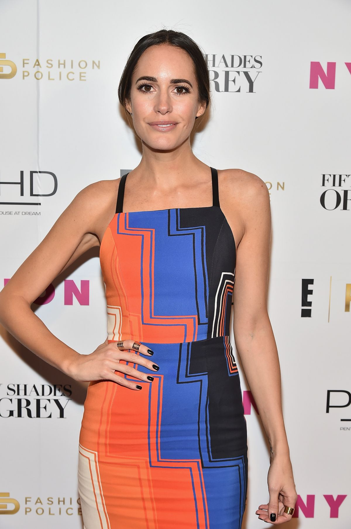 LOUISE ROE at E! Fashion Police and Nylon Fifty Shades of Fashion Event in New York