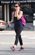 LUCY HALE in Tights leaves a Gym in West Hollywood 1102