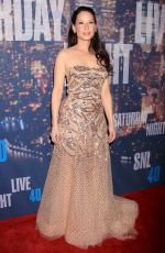 LUCY LIU at SNL 40th Anniversary Celebration in New York