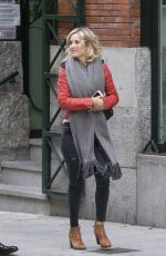 LUISANA LOPILATO Out and About in Madrid