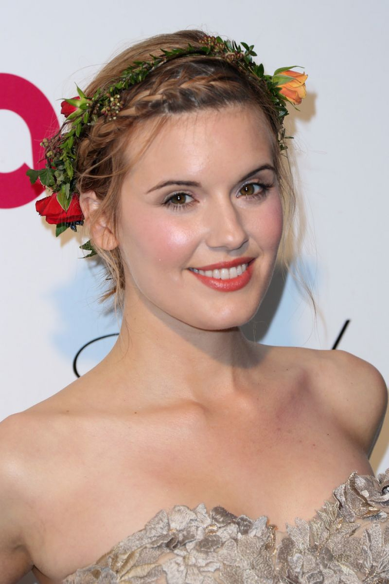 MAGGIE GRACE at Elton John Aids Foundation's Oscar Viewing Party