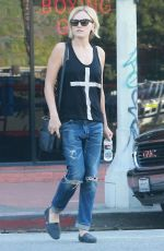 MALIN AKERMAN in Ripped Jeans Out and About in Los Angeles