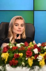 MARGOT ROBBIE at 65th Sanremo Music Festival in Italy Press Conference