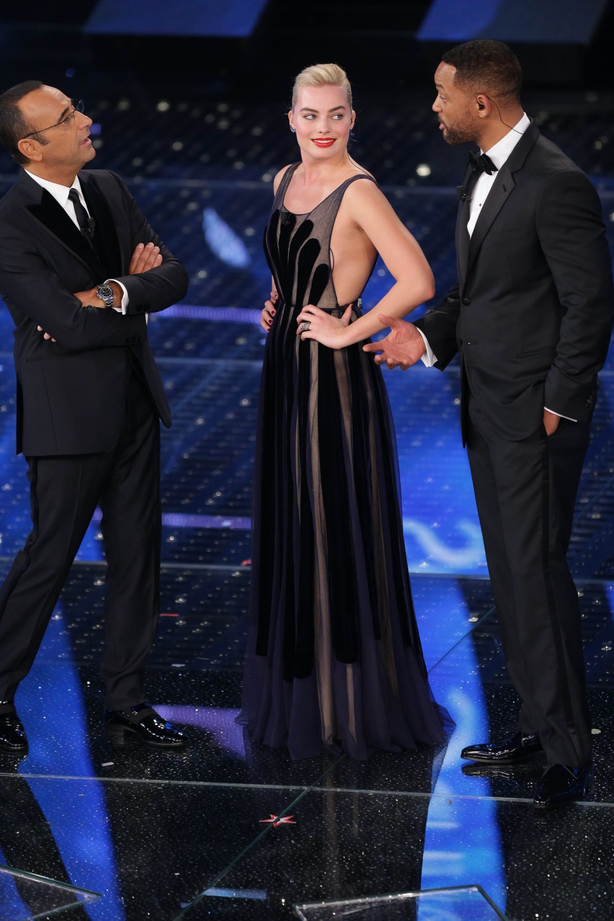 MARGOT ROBBIE at 65th Sanremo Music Festival in Italy