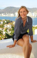MARIA SHARAPOVA at a Photoshoot in Acapulco