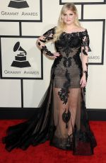 MEGHAN TRAINOR at 2015 Grammy Awards in Los Angeles