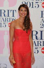 MELANIE SYKES at Brit Awards 2015 in London