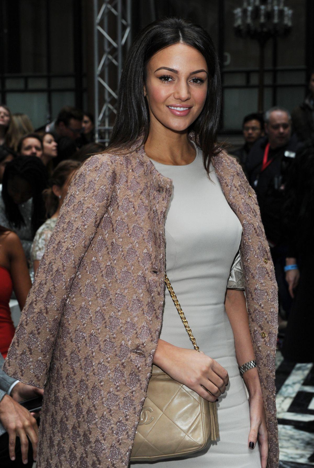 MICHELLE KEEGAN at Julien Macdonald Fashion Show in London