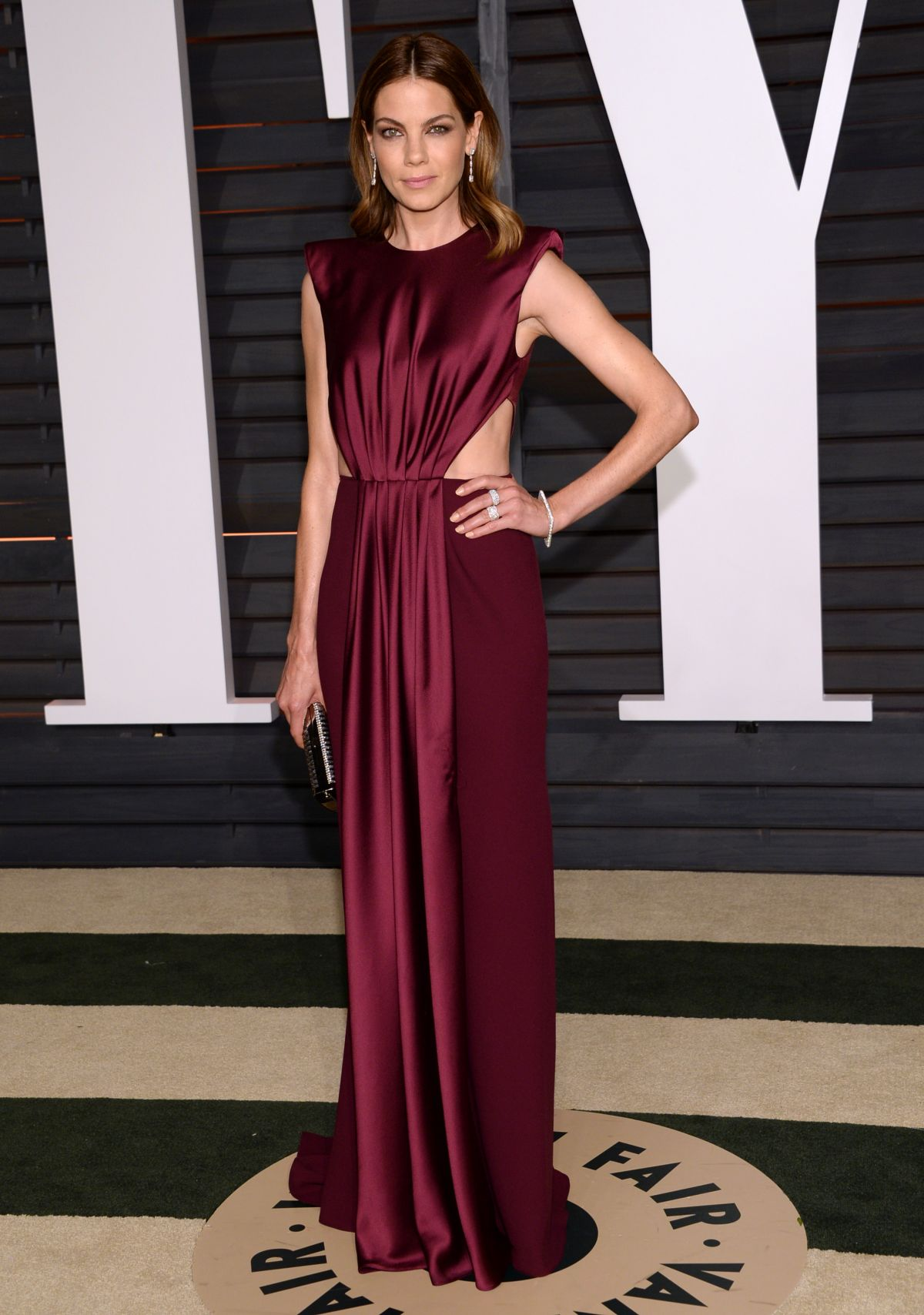 MICHELLE MONAGHAN at Vanity Fair Oscar Party in Hollywood