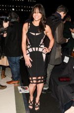 MICHELLE RODRIGUEZ at Herve Leger by Max Azria Fall 2015 Fashion Show in New York