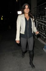 MICHELLE RODRIGUEZ Dines at Madeo Restaurant in Los Angeles