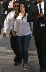 MILA KUNIS Arrives at Jimmy Kimmel Live! in Hollywood