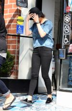 MILA KUNIS Leaves Sweet Lady Jane Bakery in Los Angeles