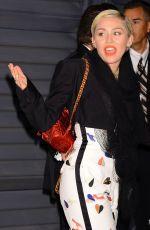 MILEY CYRUS at Vanity Fair Oscar Party in Hollywood