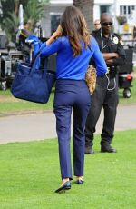 MIRANDA KERR on the Set of a Commercial in Santa Monica