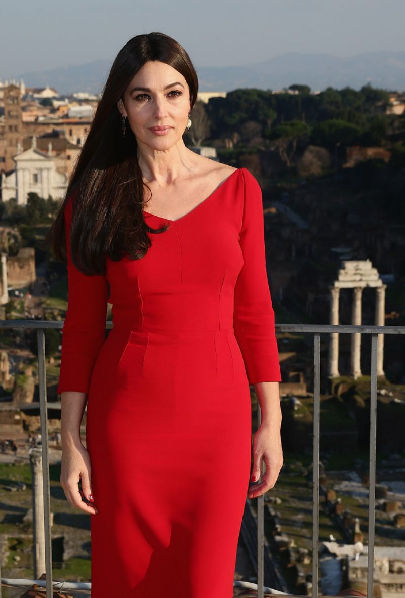 MONICA BELLUCCI at Spectre Photocall in Rome - HawtCelebs - HawtCelebs Monica Bellucci