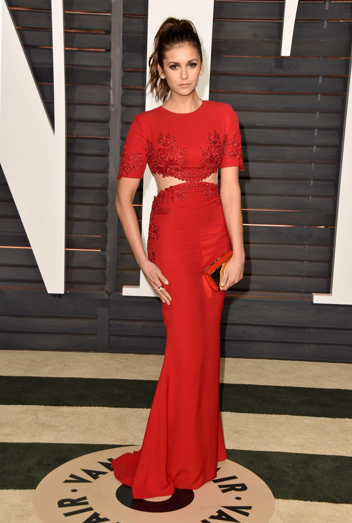 NINA DOBREV at Vanity Fair Oscar Party in Hollywood