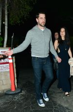 OLIVIA MUNN and Aaron Rodgers Night Out in Beverly Hills